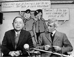 Dos buenos amigos. Zhang Chongren y Hergé.
