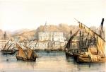 Louis Haghe. Vista de Málaga desde el muelle (1838).